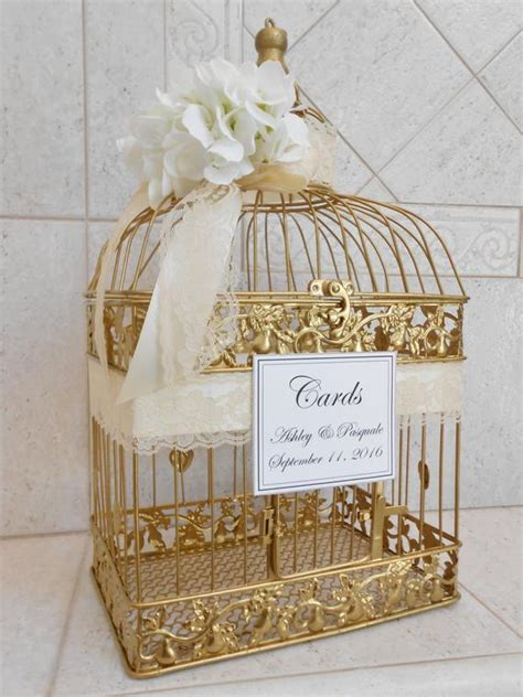 Large Wedding Birdcage Card Holder