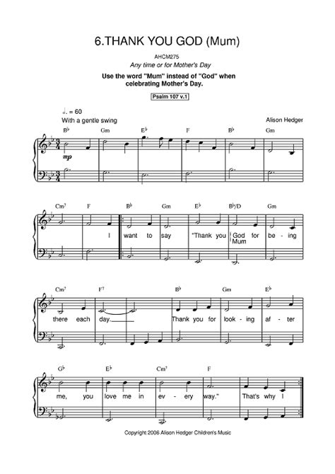 ima put you to bed lyrics thank you god sheet music music for piano and more