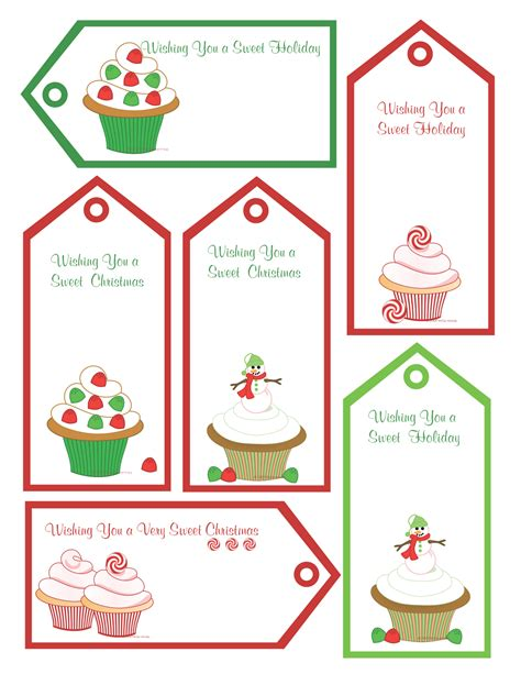 free christmas printables gift tags homemade gift ideas