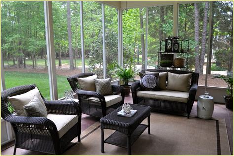 Outdoor Screened Porch Furniture