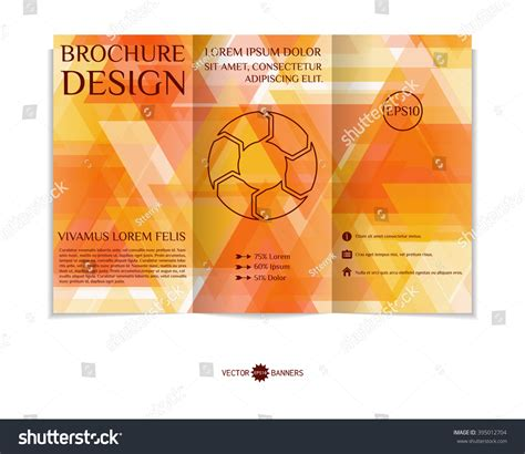 brochure design with trifold colorful template colorful trifold brochure design template modern stock
