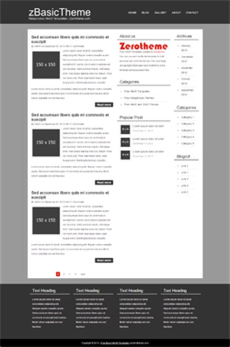Free Basic Responsive Html5 Themes Zerotheme Simple Html5 Template Responsive