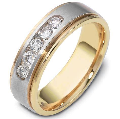 c118371 14k two tone wedding band