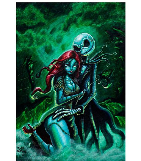 jack and sally art print from the atomic boutique