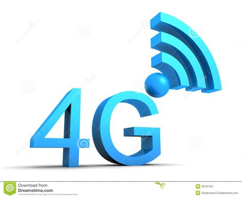 mobile connections 4g mobile connection symbol stock image image 35197421