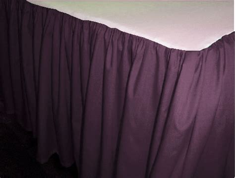 purple bed skirt solid eggplant purple colored swag window valance