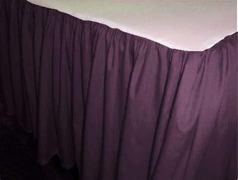 purple bed skirt eggplant purple dustruffle bedskirt full double size