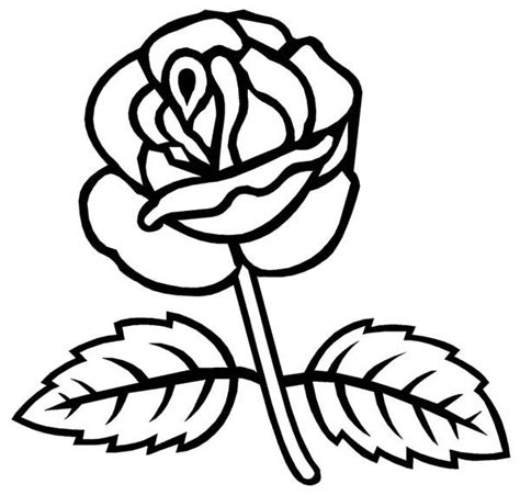 coloring pages of real roses drawing of rose leaf clipart best