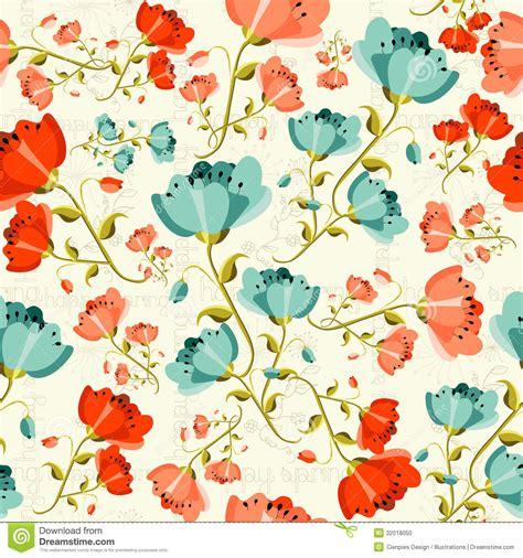 pattern flower illustrator happy spring poppy flower pattern stock vector image