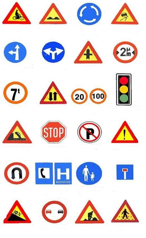 printable road signs and meanings road sign with there meaning clipart best