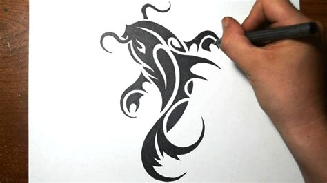 koi fish tribal tattoo how to draw a koi fish simple tribal design