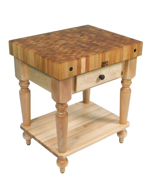 boos cucina rustica butcher block table w shelf