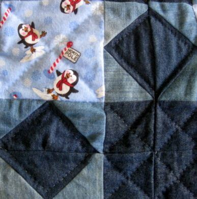 blue pattern casual baby quilt 17 best images about jeans quilt on pinterest quilt
