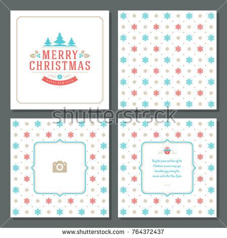 New Year Place Cards Templates by New Year Greeting Card Templates Stock Vector