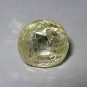 Cincin Yellow Sapphire Ah 50 batu mulia yellow sapphire 3 44 carat bening dan berkilau