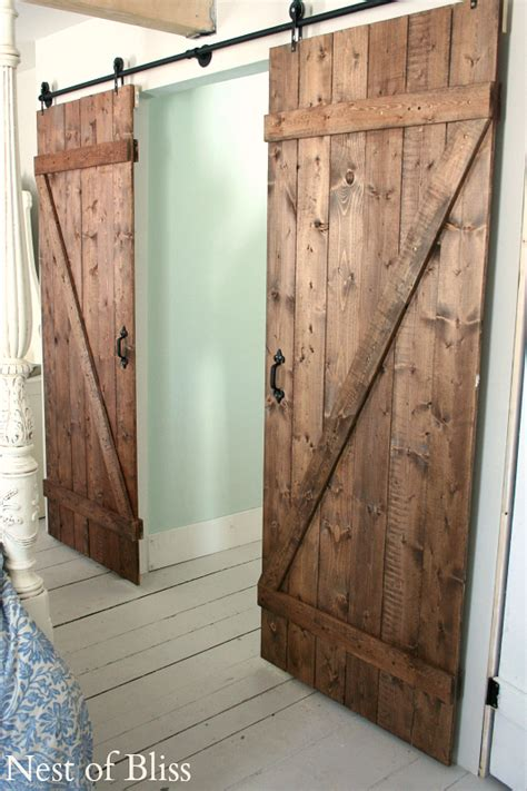 How To Build An Interior Barn Door Diy Barn Doors Nest Of Bliss