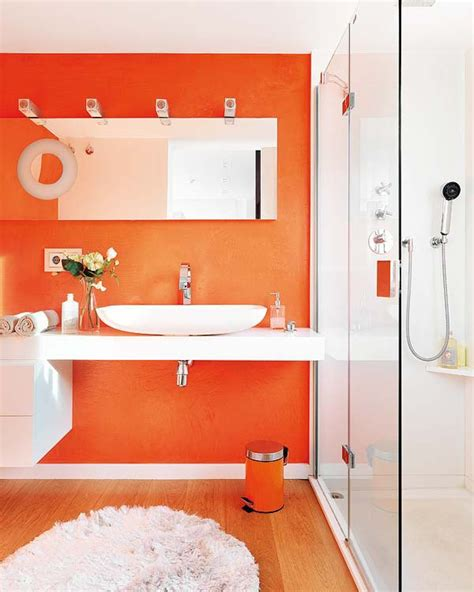 orange bathroom ideas colourfully
