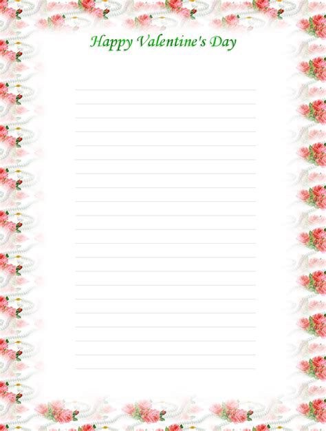 printable valentine stationery free printable valentine stationery search results
