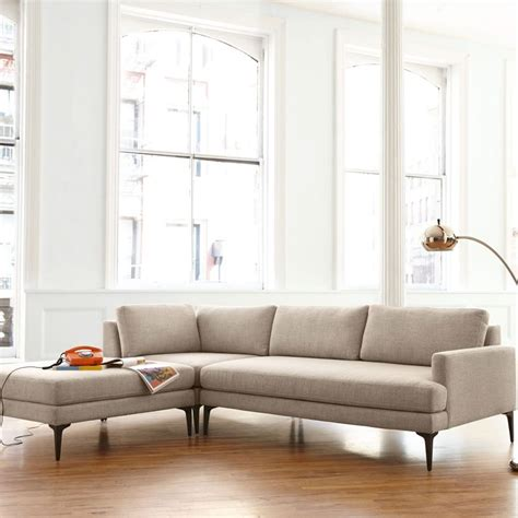 west elm sectional andes 3 piece chaise sectional west elm uk