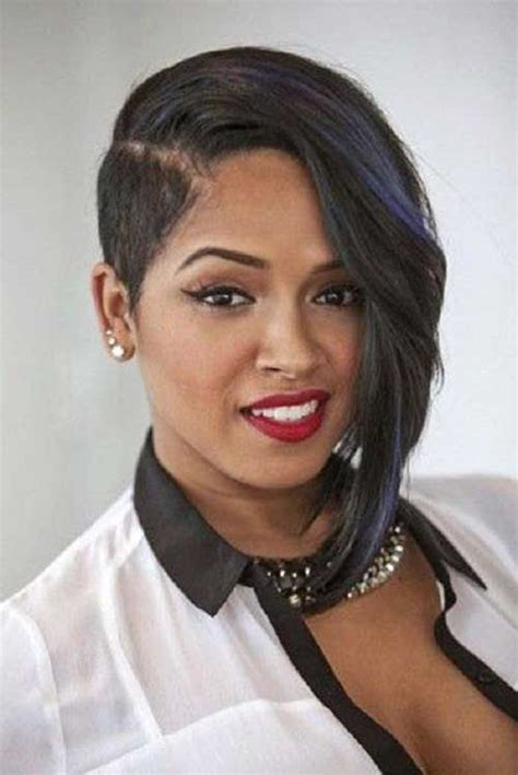 asymmetrical haircuts black hair layered short weave hairstyles for black women the best