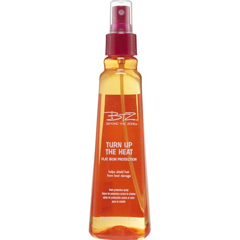 best flat iron sspray for american hair beyond the zone turn up the heat protection spray
