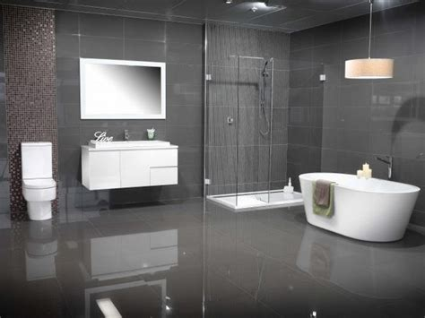 modern grey bathroom modern bathroom colors grey tiles white floating vanity