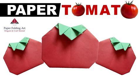 Origami Tomato - origami tomato how to make origami tomato paper tomato