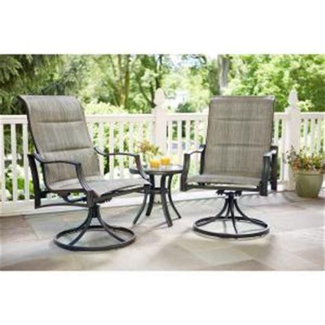 Hton Bay Swivel Patio Chairs by Hton Bay Statesville Padded Sling Patio Lounge Swivel