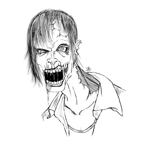 zombie sketch by thesig86 on deviantart