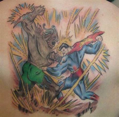 doomsday tattoo superman vs doomsday