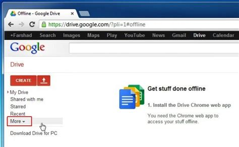 drive offline how to use google drive offline to create and edit