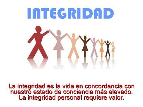vivir con integridad y integridad
