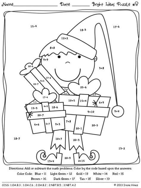 christmas math coloring pages 3rd grade christmas math activities bright ideas for the holidays