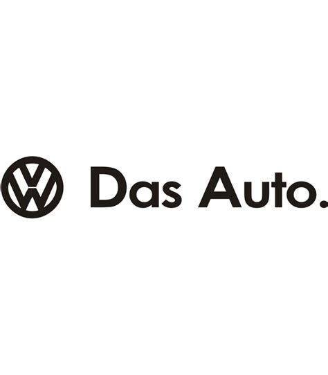logo volkswagen das auto volkswagen das auto sticker kopen sign styling oss