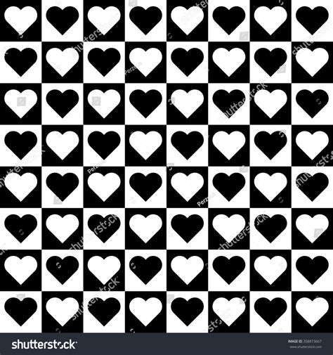 black and white heart pattern wallpaper vector seamless black white heart pattern stock vector