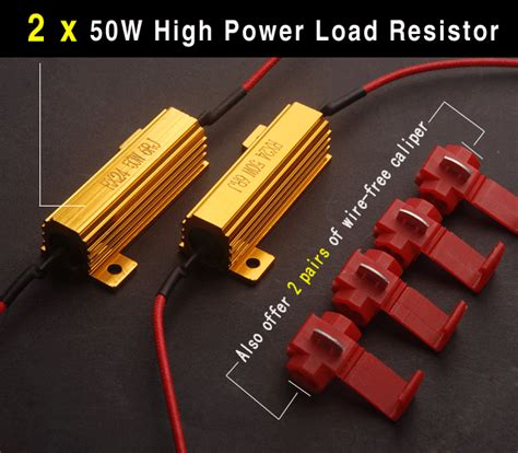 load resistor temperature 2x 3157 high power dual color white led turn signal light bulb resistors