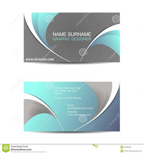 presentation cards template business card template or visiting card stock vector