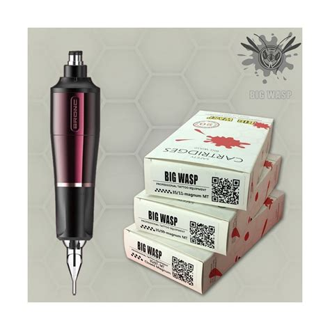 tattoo needle for color packing bronc tattoo pen with needle cartridges pack big wasp