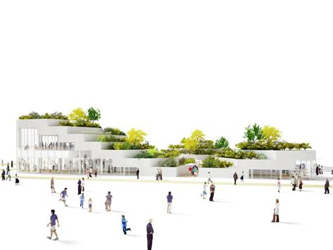 Corner Lot House Plans sanya lake park super market proposal nl architects