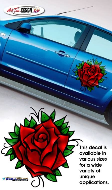 Auto Trim Decals by Red Rose Tattoo Vehicle Decal 1