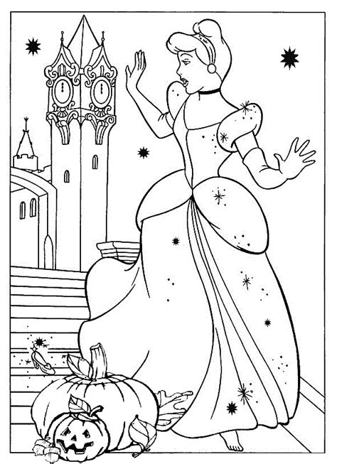 10 free and printable disney princess halloween coloring