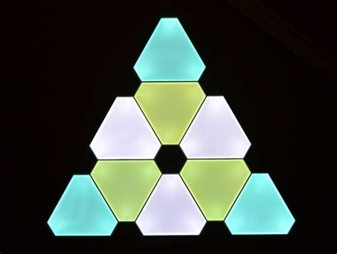smart art the nanoleaf aurora triangular lighting system