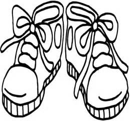 shoe coloring page printable shoes clipart best