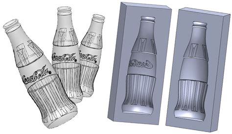 solidworks tutorial mold how to draw a coke bottle mold in solidworks