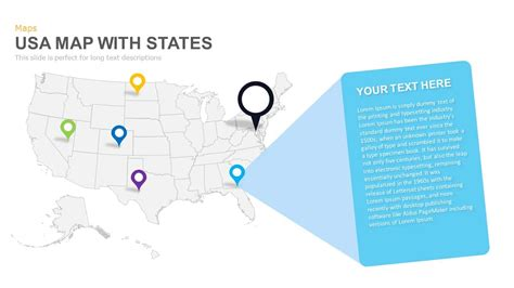 Usa Map With States Powerpoint And Keynote Template Slidebazaar 50 States Powerpoint Template