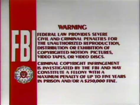 Vcd Original White image bvwd fbi warning screen 3a1 jpg the fbi warning