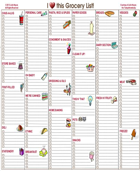 blank grocery list template sle grocery list 7 documents in pdf word