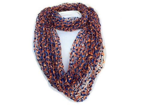 lightweight infinity scarf knitting pattern family jewels and purse strings blue orange