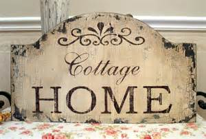 cottage home shabby chic sign vintage style distressed