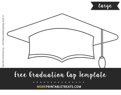 graduation cap template large